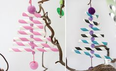 """Paper straw ornaments from Pysselbolaget ("""",)"""