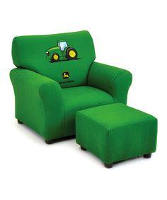 Another great find on #zulily! John Deere Green Club Chair & Ottoman by Kidzworld #zulilyfinds