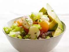 """The acid from the lime and orange juices """"cooks"""" the scallops for the easiest starter or no-cook light meal."""