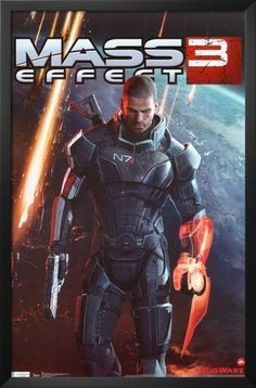 Professionally Framed Mass Effect 3 Video Game Poster - 22x34 with Solid Black Wood Frame by Poster Revolution, http://www.amazon.com/dp/B0071P7FY6/ref=cm_sw_r_pi_dp_zGBUqb0SETB44