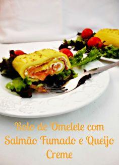 PRAZERES SAUDÁVEIS: Rolo de Omelete Recheado com Salmão Fumado e Queijo Creme