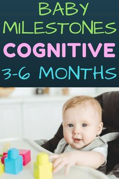 Infant Milestones Months: Everything you need to know about your baby's intellectual development from months. Infant play tips to encourage cognitive skills. Simple baby activities that promote learning all while having fun! 6 Month Baby Development, Development Milestones, Baby Milestones, 6 Month Old Milestones, Toddler Development, 6 Month Baby Activities, Infant Activities, Baby Sensory Ideas 3 Months, Children Activities