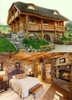 Small Log Cabin Homes Ideas Cabins In The Woods, House In The Woods, Log Cabin Homes, Log Cabins, Barn Homes, Mountain Cabins, Cabins And Cottages, Story House, House Goals