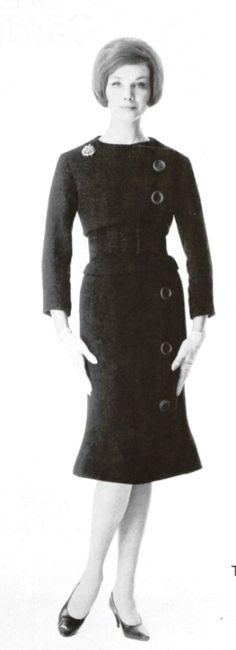 1961  Christian Dior .Robe en ''dulka ''