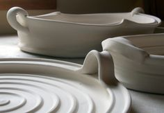 Baker and Trays_Lucia Pottery