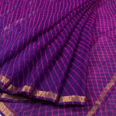 Lehariya Dyed Kota Silk Saree with Zari Border Kota Silk Saree, Kota Sarees, Indian Sarees, Silk Saree Kanchipuram, Chanderi Silk Saree, Silk Sarees, Sari Blouse, Saree Dress, Jute