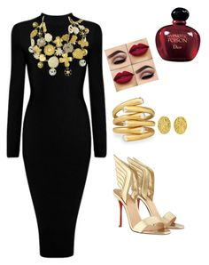 Designer Clothes, Shoes & Bags for Women Christian Lacroix, Christian Louboutin, Gold N, Polyvore, Stuff To Buy, Shopping, Collection, Design, Women