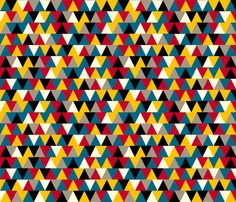 Primary Triangles fabric by pennycandy on Spoonflower - custom fabric