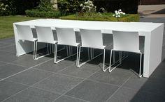 Terras Ingooigem Garden Yard Ideas, Dinning Table, Interior And Exterior, Outdoor Furniture, Luxury, House, Design, Home Decor, Tables