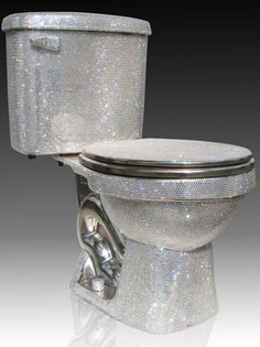 swarovski bling toilet! Will def need this in my future home lol