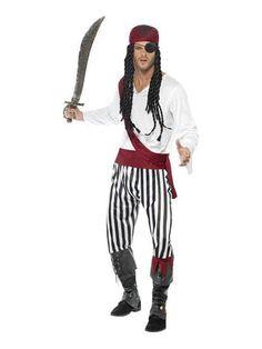 Deluxe Pirate Buccaneer Costume Beauté Smiffys Fancy Dress Costume