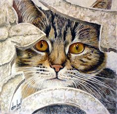 Famous Cat Paintings | Cat, Don Bell Artist, Kitty, eyes, pet, wild cat, animal, decor ...