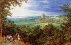 Landscape with the Chateau de Mariemont - Jan Bruegel the Elder - The Athenaeum