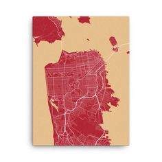 San Francisco 49ers Map Canvas