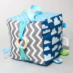 Fabric Baby Blocks Taggie Cube Montessori Sensory Toys