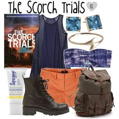The Scorch Trials by evil-laugh on Polyvore featuring labworks, Mossimo, American Eagle Outfitters, Bronx, Billabong, Carolee, Pieces, Supergoop!, jamesdashner and thescorchtrials