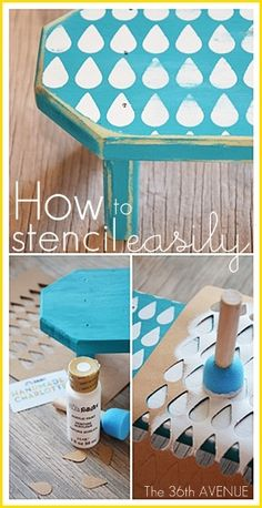 How to stencil easily... Love this little bench!