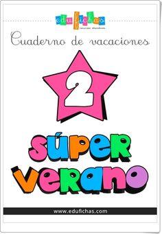"""""""Superverano 2"""" es un cuaderno de verano, de educafichas.com, para Educación Infantil con contenido multidisciplinar: conceptos básicos, lectoescritura, números, operaciones, medio físico y social, etc."""