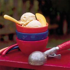 Peach-Cinnamon Ice Cream ♥ Southern Living