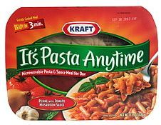 Kraft It's Pasta Anytime Microwavable Penne with Basil & Mushroom Marinara Sauce (15.25 oz) :: Foodfacts.com :: Find out what's REALLY in your food. ::
