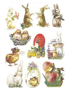 Easter scrap sheet to download for free