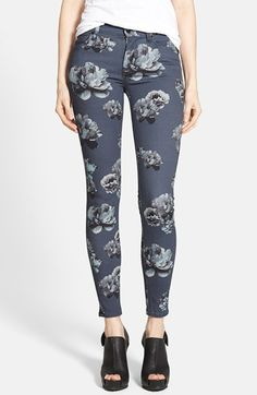 Hudson Jeans 'Nico' Skinny Stretch Jeans (Venice Bloom) available at #Nordstrom