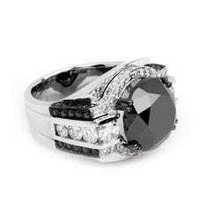 Rare Black Diamond Ring
