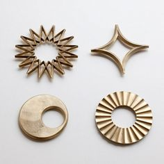The brass pot trivets are produced by Japanese company Futagami, who have been forging brass for over a century.