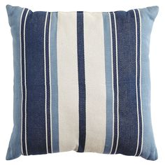One of the most traditional and versatile patterns, stripes never go out of style. Our woven Portica pillow features rows of contrasting thickness that make a bold statement. It's a classic—reinvented.