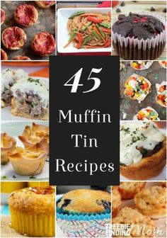 Who says muffin tins are just for muffins? Not this mom! Here are 45 muffin tin recipes that make great school lunch ideas for kids, toddler meal ideas for your picky eater, and will help with portion control if you are trying to lose weight. Cupcakes, Muffin Pan Recipes, Baking Recipes, Breakfast Recipes, Dinner Recipes, Pizza Recipes, Drink Recipes, Breakfast Ideas, Healthy Recipes