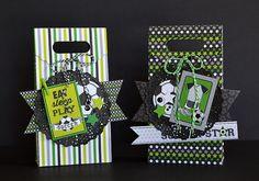Doodlebug Design Inc Blog: GOAL! Collection: Treat Bags by Wendy Sue Anderson