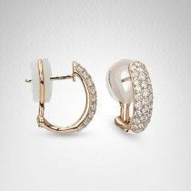 Platinum and #Diamond #Earrings By Bailey Banks and Biddle - Potomac