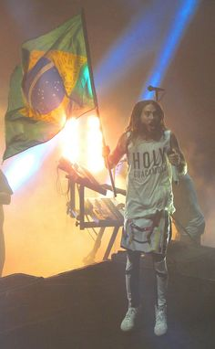 Thirty Seconds To Mars Jared Leto Fundição Progresso Rio de Janeiro Brazil 2014 #30SecondsToMars #MARSinBrazil