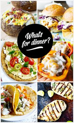 What's for Dinner?  Great dinner ideas to inspire you!