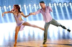 """Dancing With the Stars - Sharna & Noah Cha Cha'd to """"I Lived"""" by One Republic - Week-1 - Season 20 - Spring 2015  -  Inspirational performance: Sergeant Noah Galloway lost his left arm and left leg in the Iraq War"""