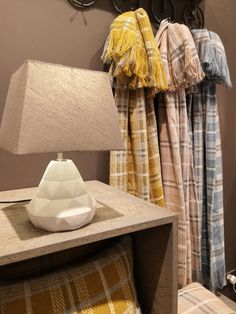 Assorted Easy Weave Throws, €36, Rustic Natural Grey Table Lamp, €65, available now instore or online!