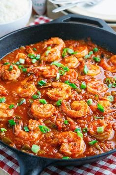 Shrimp Creole - perfect for Mardi Gras! A tasty Creole style dish with shrimp in a thick and tomato based sauce with onions, celery and bell pepper along with some spicy hot sauce that is typically served over rice. Cajun Shrimp Recipes, Fish Recipes, Seafood Recipes, Dinner Recipes, Cajun Tilapia, Cajun Shrimp And Rice, Sauteed Shrimp, Baked Shrimp, Grilled Shrimp