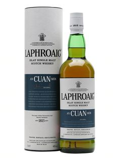 An Cuan Mor (Gaelic for 'big ocean') is a travel retail bottling of Laphroaig. Aged in first-fill American white oak bourbon barrels, it is finished in European oak. Rich and spicy with a maritime ...
