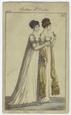 Fashion plate, 1806 England, Costume de Londres