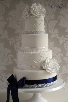 Today's wedding cake by Cotton and Crumbs by Cotton and Crumbs