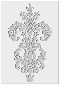 mm semi-transparent washable and reusable Stencil Patterns, Stencil Painting, Stencil Designs, Damask Stencil, Wall Tattoos, Large Stencils, Wall Borders, Art Mural, Wall Design
