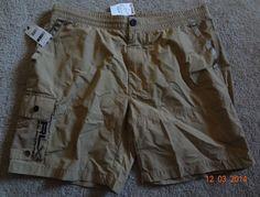 RLX Ralph Lauren Brown Flat XL Cargo Shorts 52% Polyamide/48% Cotton NWT   #RLXRalphLauren #Cargo