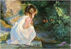 """""""Painting by Vladimir Volegov - pintura Art Gallery, Art Painting, Art Appreciation, Kids Portraits, Figure Painting, Painting, Beautiful Paintings, Art, Beautiful Art"""