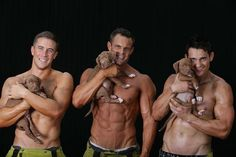 Firefighters Posing With Rescue Puppies For Charity Will Set Your World On Fire