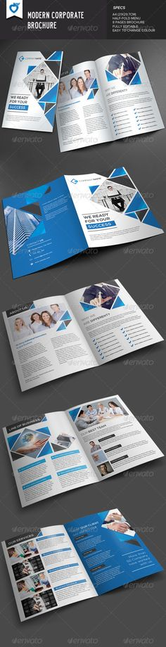 Modern Corporate Brochure v2   http://graphicriver.net/item/modern-corporate-brochure-v2/8091790?ref=damiamio       Modern corporate brochure template. This layout is suitable for any project purpose. Very easy to use and customise.  	 ................................................  	 Size : A4 (21×29.7CM) 8 pages  	 Free Font Used :  	 fontfabric /nexa-free-font/  	 ................................................  	 File included :  	 AI Files (CS5 & CS4 Layered) | EPS File | TXT (help…