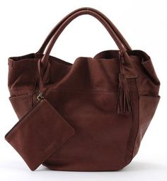 Washed leather tote / ShopStyle: Rose Bud WASH LEATHER TOTE BAG