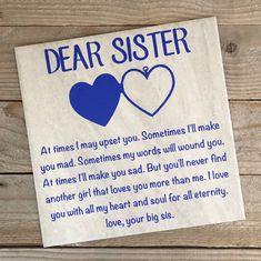 Gift for Sister Birthday Gift for Sister Christmas Gift for Her Sister Gift Unique Gift for Sister Sister Birthday Gift Gift Idea Gifts Gifts for sister