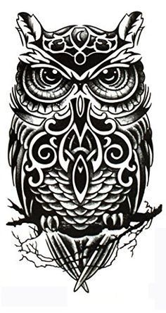 sticker foam Picture - More Detailed Picture about Temporary tattoos large black owl arm fake transfer tattoo stickers hot sexy men women spray waterproof designs Picture in Temporary Tattoos from products updated every day Kunst Tattoos, Body Art Tattoos, Sexy Tattoos, Owl Tattoo Design, Tattoo Designs, Tattoo Ideas, Tattoos For Guys, Tattoos For Women, Colorful Owl Tattoo