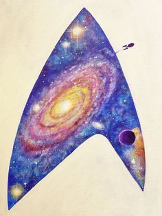 Angela Anderson Art Blog | Star Trek Beyond | Galaxy Acrylic Painting Tutorial on YouTube | Deep Space Universe with Stars and Planets | Trekkie Fan Art | How to Paint Galaxies | Captain Kirk | Spock | Starship Enterprise | Easy Acrylic Painting | Beginner Acrylic Paint Canvas