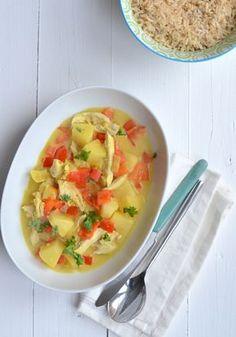 kip kerrie met ananas
